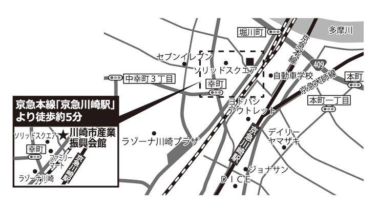 川崎市産業振興会館地図